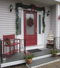 How To Decorate Your House For Christmas Outside House Front Porch Holiday Decorating Images Ideas Enchanting Christmas On