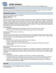 Comprehensive Resume Sample Format by Resume Law Enforcement Resume Template