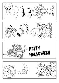 printable coloring halloween bookmarks christmas activity gift