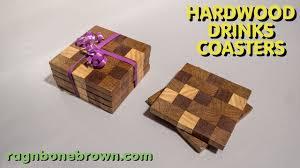 wooden drink coaster making hardwood end grain drinks coasters youtube