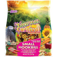 brown u0027s tropical carnival gourmet small hookbill food petco