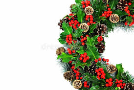 traditional christmas holly wreath royalty free stock images