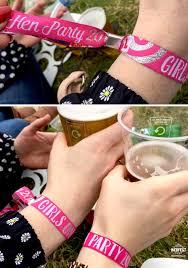 Designerk Hen Hen Party Wristbands For Festival Hens Wedfest