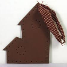 punched tin country primitive ornaments
