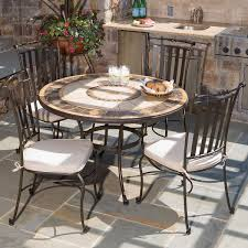 Mosaic Dining Room Table 5 Piece Compass Mosaic Outdoor Dining Set From Alfresco Home