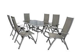 leisuregrow gold coast 6 seater rectangular recliner garden