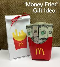 money fries the money gift idea memories one