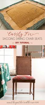 Dining Chair Seats How To Fix A Sagging Dining Chair Seat The Gathered Home