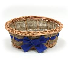 empty gift baskets empty wicker gift basket blue ribbon co uk kitchen home