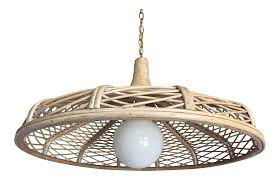 1960s natural rattan pendant light rattan pendant light rattan
