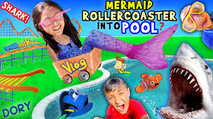 mermaid roller coaster in pool funnel vision aqua adventure w
