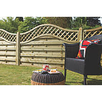 4 Ft Fence Panels With Trellis Fencing Outdoor Projects Screwfix Com