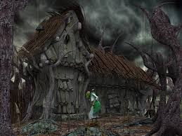 Halloween Poem Funny Witch Cottage