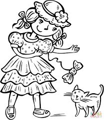 kitten coloring page kitten coloring pages good to print with