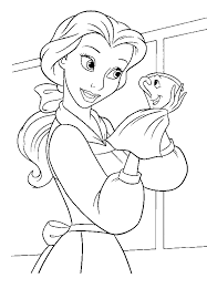 beauty beast coloring pages kids belle touches beast