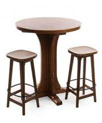 Breakfast Bar Table And Stools Small Round Pub Table Foter