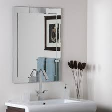 Frameless Bathroom Mirror Large Francisca Large Frameless Wall Mirror Free Shipping Today