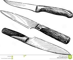 kitchen glamorous kitchen knife drawing set of 4 steel knives