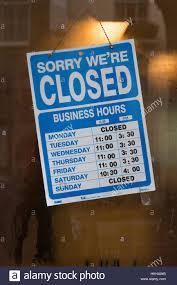 glass door signs cafe u0027closed u0027 sign in camden town london taken through a steamy