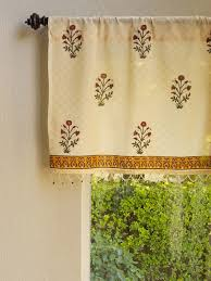 Bathroom Window Valance by India Red Floral Sheer Beaded Window Valance Kitchen Bathroom