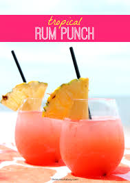 the best tropical rum punch drink recipe for summer or anytime
