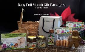 gift packages partridge pear personalised baby month gift month