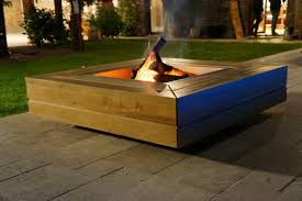 Table Basse Bio Ethanol Wood Burning Fire Pit With Barbecue Kronos Kub