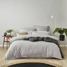 mercer reid tribeca silver waffle quilt cover set bedroom