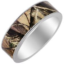 his and camo wedding rings mens camouflage wedding band in titanium 7mm