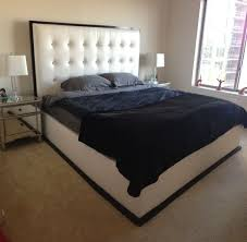 hand crafted tufted headboard platform bed by scott design