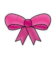 ribbon bow decoration ornament icon vector image