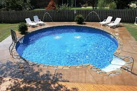 Backyard Pool Sizes by Beautiful Small Round Inground Swimming Pool Designs With