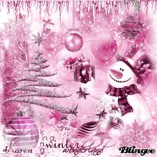 pink christmas pink christmas snowman tree picture 126846981 blingee
