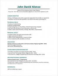 Sample Resume Fresh Graduate Accounting Student Sample Resume Format For Fresh Graduates One Page Format Resume
