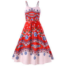casual dress wholesale print spaghetti casual dress in m trendsgal