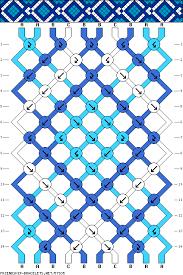 diamond bracelet friendship images Diamond geometric friendship bracelet pattern 10 strand 3 color gif