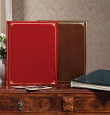 photo albums leather leather oversized scrapbook exposures online