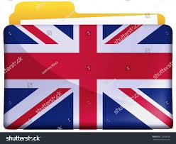 Greek Canadian Flag British Flag Painted On File Folder Stock Illustration 118378930