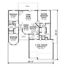 traditional style house plan 3 beds 2 00 baths 1494 sq ft plan