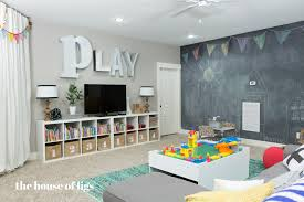 Wall Ideas For Basement Playroom Chalk Wall Stage The House Of Figs For The Home