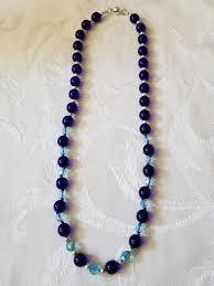 blue crystal necklace images Blue pressed glass blue crystal necklace past present jpg