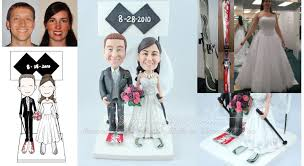 black cake toppers skier wedding cake toppers with black diamonds symbol sign