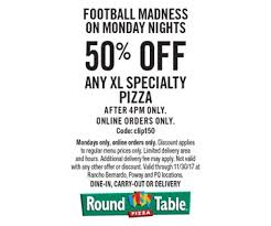 Round Table Prices Localflavor Com Round Table Pizza 10 For 20 Worth Of Pizza