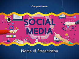 social media technology innovation concept powerpoint template
