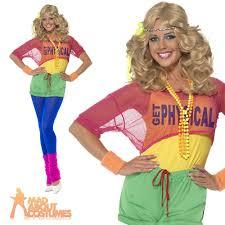 80 u0027s let u0027s get physical ladies womens fancy dress costume uk