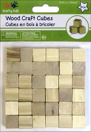 craft medley wood craft cubes 5 8 in natural 36 pc createforless
