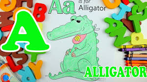 learn alphabet letter a alligator coloring pages education