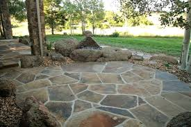 Patio Flagstone Designs Flagstone Patios Custom Rock Pit On Flagstone Patio With