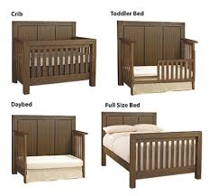 Convert Crib by Oxford Baby Piermont 4 In 1 Convertible Crib Rustic Farmhouse