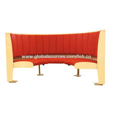 Global Upholstery Co China Comfortable High Backrest Leather Upholstery Booth Sofa Seat